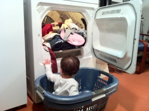 Laundry with baby