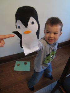 Teaching kids with crafts and books Arctic